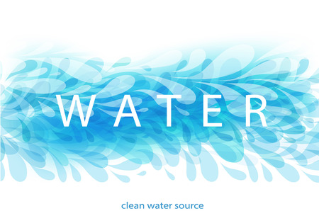 Abstract Blue Background with element Drops and Water