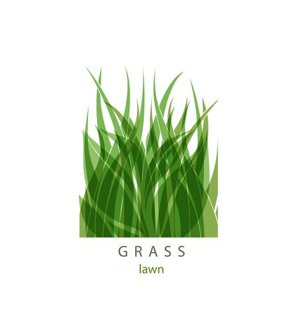 Grass Label abstract design. Green icon. Beautiful Garden Company. Imagens - 133568505