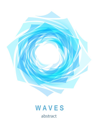 Abstract Blue Background with Waves and Water drop