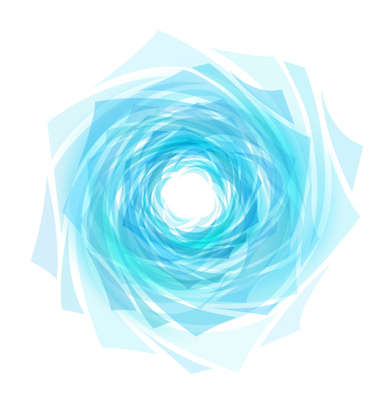 Abstract Blue Background with Waves and Water drop Imagens - 126327727
