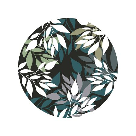 Handdrawn Vector Watercolour style, nature illustration. Background with leaves and branches Ilustração