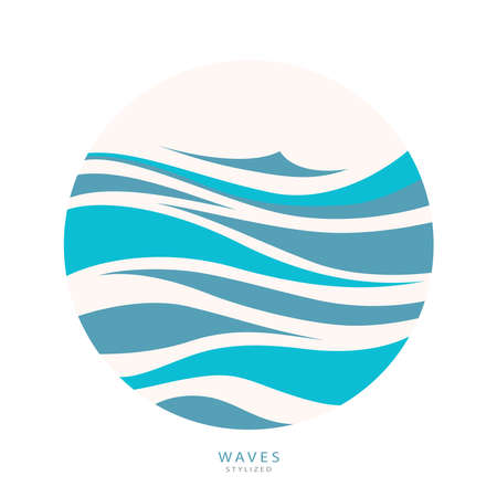 Water Wave abstract design. Cosmetics Surf Sport Ilustração