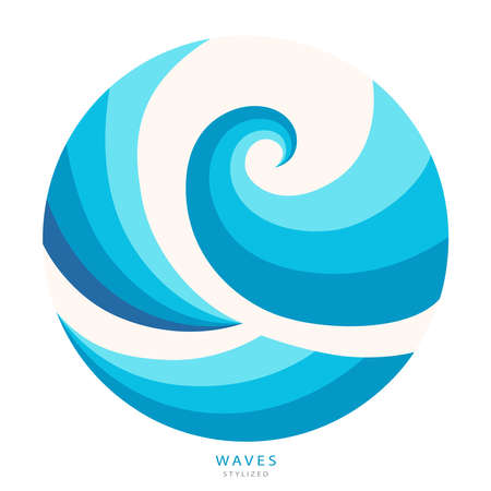 Water Wave abstract design. Cosmetics Surf Sport Imagens - 153445187