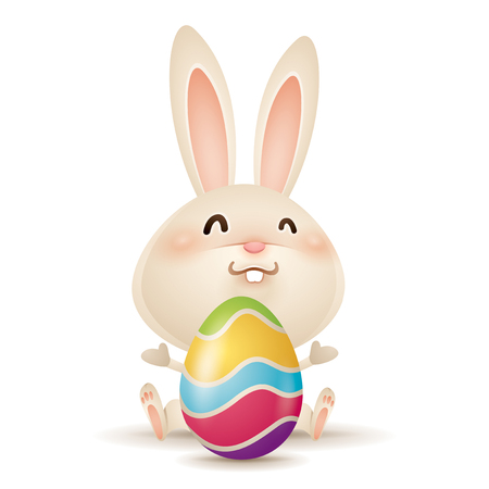 Easter bunny and egg. Ilustrace