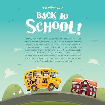 Back to School! Wide copy space for text. Ilustração