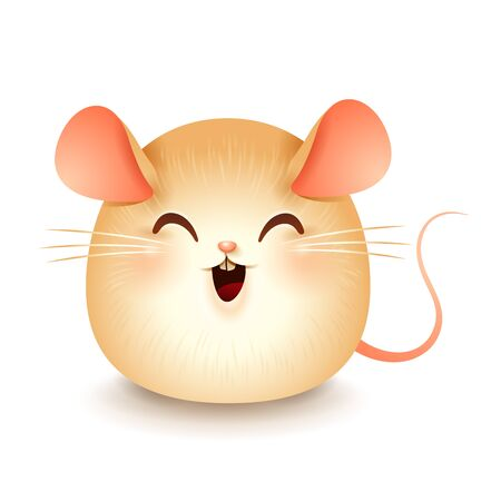 The Fat Little Rat. Chinese New Year. Year of the rat. Ilustração
