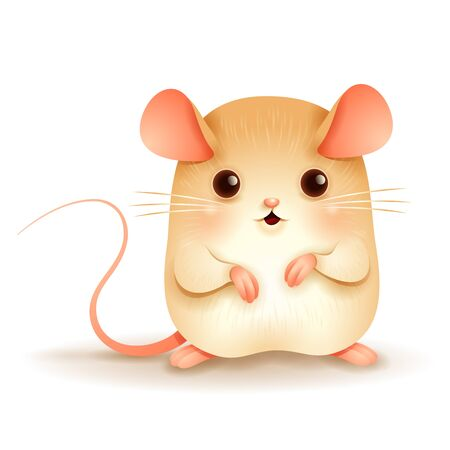 The Little Rat. Chinese New Year. Year of the rat.