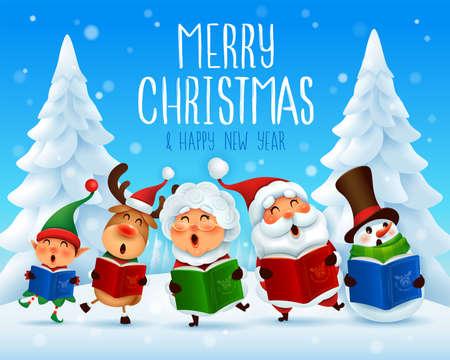 Merry Christmas! Christmas carol. Choir.