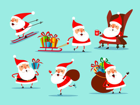Collection of Christmas Santa Claus. A variety of Santa Claus for Christmas design.