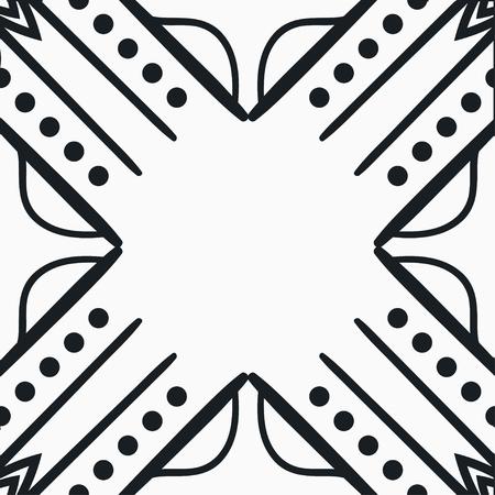 Vector modern geometric tile pattern. Abstract art deco seamless luxury background. Vector illustration