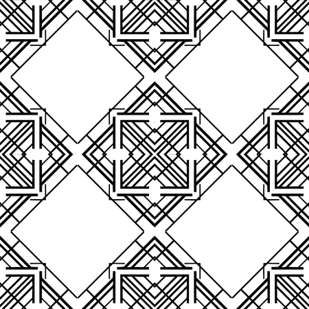 Seamless geometric art deco pattern. Vintage ornamental texture for design