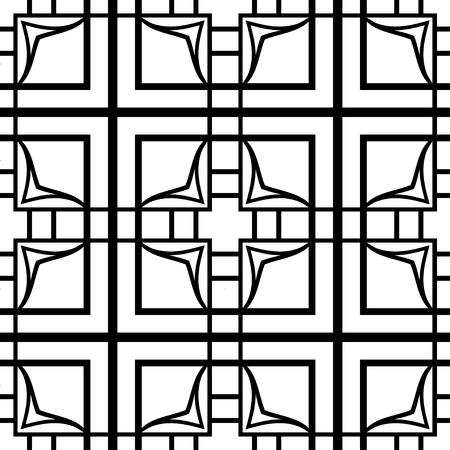 Vector modern geometric tiles pattern. Abstract art deco seamless luxury background