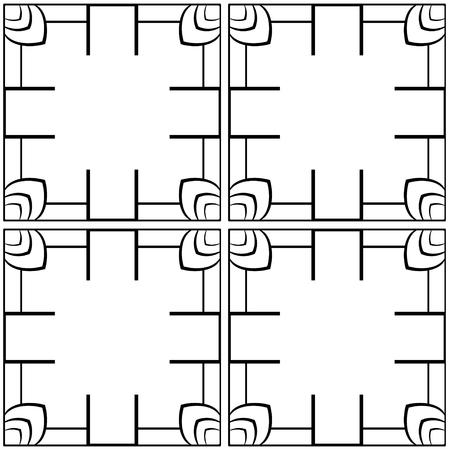 Seamless geometric art deco pattern. Vintage ornamental texture for design