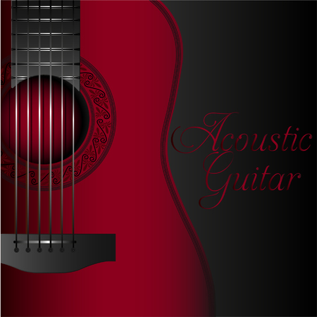 Acoustic guitar red album cover.