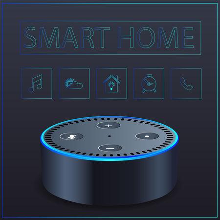 smart home black.