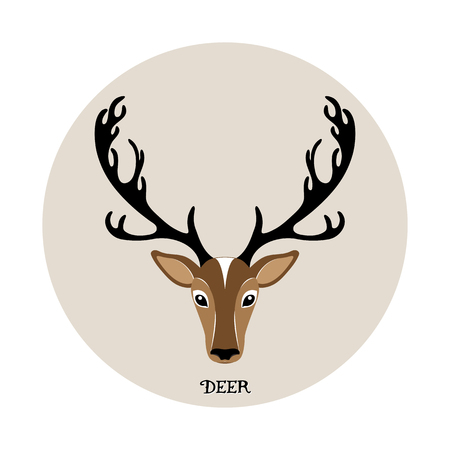 whitetail deer: Deer head elk illustration