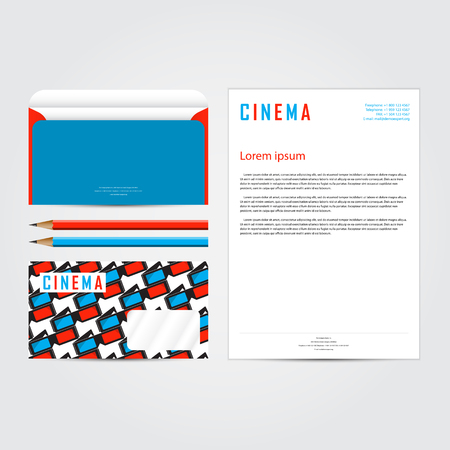 Cinema 3d corporate concept identity template set business cinema 3d corporate concept identity template set business stationery mock up branding design accmission Image collections
