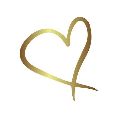 wedding heart: Gold gradient foil heart, Valentine day love golden luxury vintage wedding  invitation design