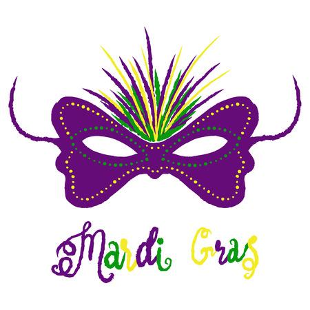 Mardi Gras carnival set, masquerade vector  illustration isolate