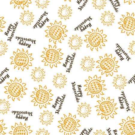 Shrovetide traditional russian festival seamless pattern Illustration