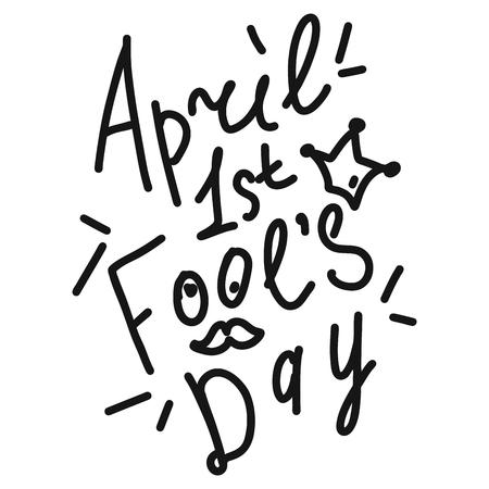 April Happy fool's day funny humor illustration Illustration