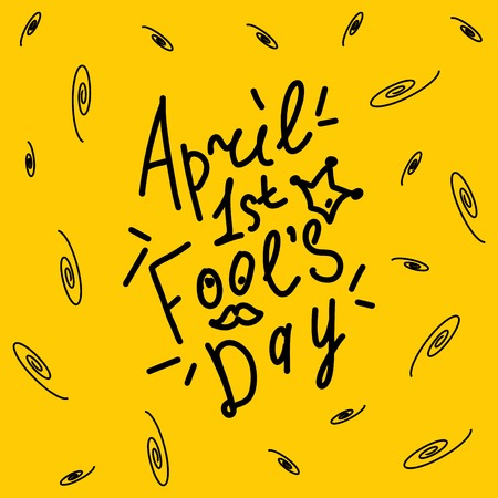 April Happy fool's day funny humor illustration 向量圖像
