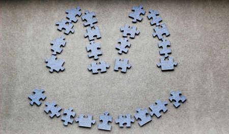 Happy smiley of the puzzle photo
