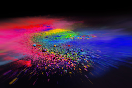 Powder pigments the cosmic color and the light