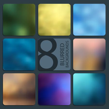 website backgrounds: Set of vector blurred backgrounds. Hologram to create trendy modern design. For your website or presentation. Illustration