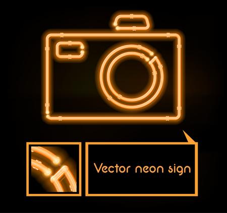 neon sign: Vector neon sign photo studio
