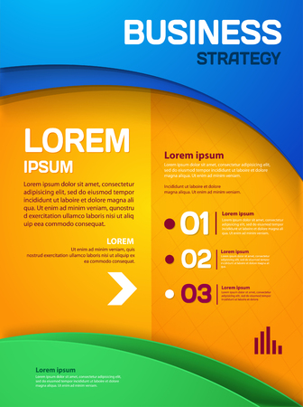 Business strategy poster. Vector Business flyer for your business Illustration