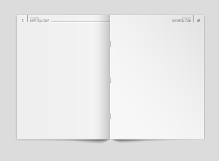 Blank newspaper template on gray background. Vector illustration.