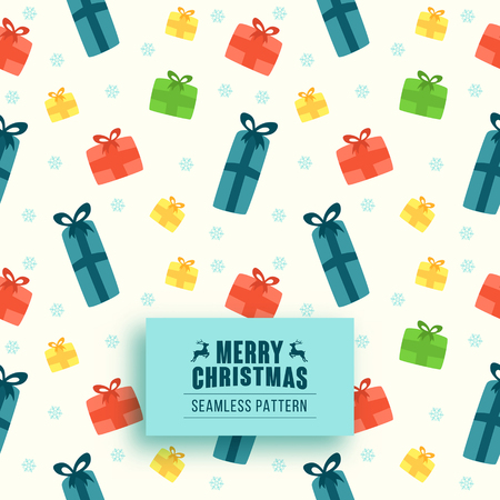 christmas gifts: Christmas seamless pattern with gifts. Christmas background