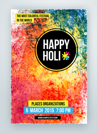 devotional: Beautiful Indian festival Happy Holi celebrations. Background for banner, card, poster.