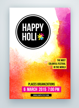 Beautiful Indian festival Happy Holi celebrations. Background for banner, card, poster.