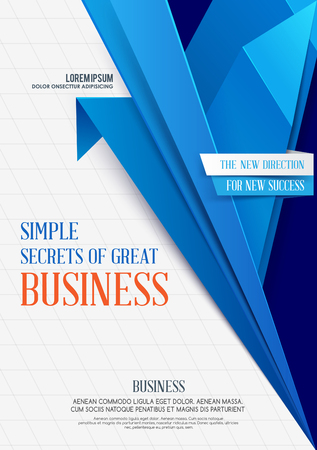 Business geometric background. Vector template. Vector Business Flyer