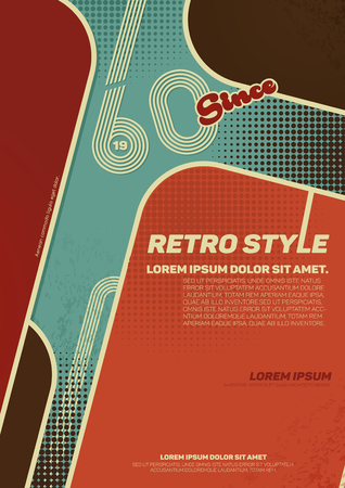 forties: Grunge retro  poster. Vintage typography. Vector illustration.