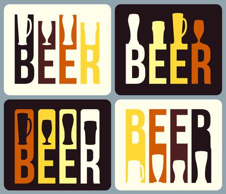 slotted: Set of beer label design.