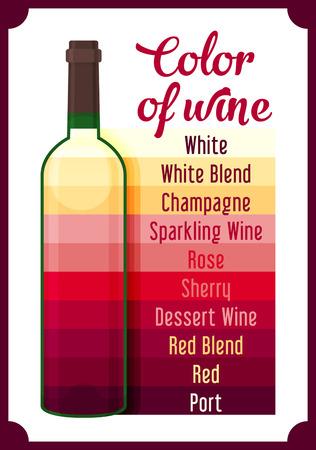 Wine colour. Vector