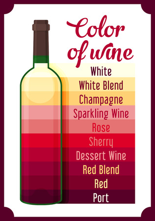 Wine colour. Vector
