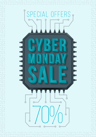 special offers: Cyber Monday poster design. Monday sale. Special offers sale