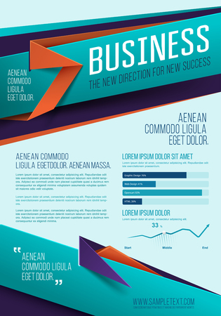 Business background. Vector template. Poster. Vector Business Flyer. Cover Vector Design Template