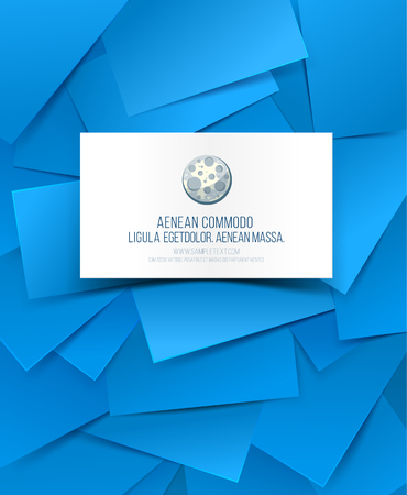 businesscard: Blank business card with shadow template and creative blue background. Vector illustration Illustration