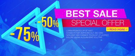 Best sale banner. Sale and discounts. Vector illustration