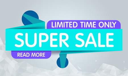 discount banner: Super Sale Banner Design. You Can use for Super Sale promotion. Advertising shopping flyers, discount banners.