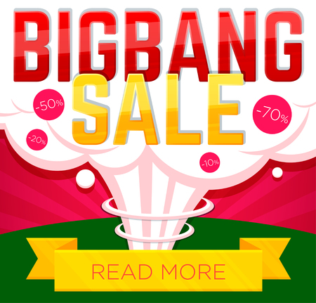 Big bang sale banner. Sale and discounts. Vector illustration
