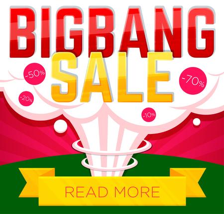 Big bang sale banner. Sale and discounts. Vector illustration