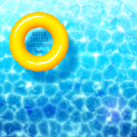 rubber ring: Water ripple background, with rubber ring on water surface eps 10