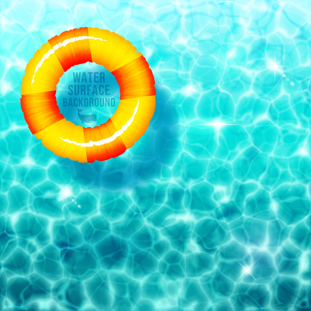 ripple: Water ripple background, with rubber ring on water surface eps 10