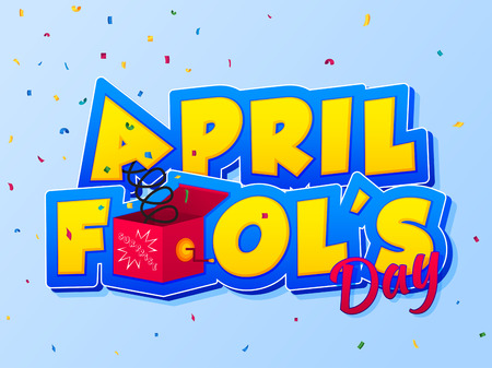 April Fools Day lettering. Vector illustration for greeting card, ad, promotion, poster, flier, blog, article, marketing, signage, email. Happy Fool's Day/ EPS 10 Иллюстрация